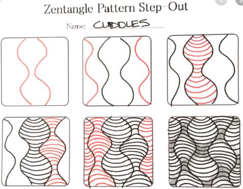 Qué Es El Arte Zentangle Meditar Dibujar Patrones Repetitivos Doodle Art