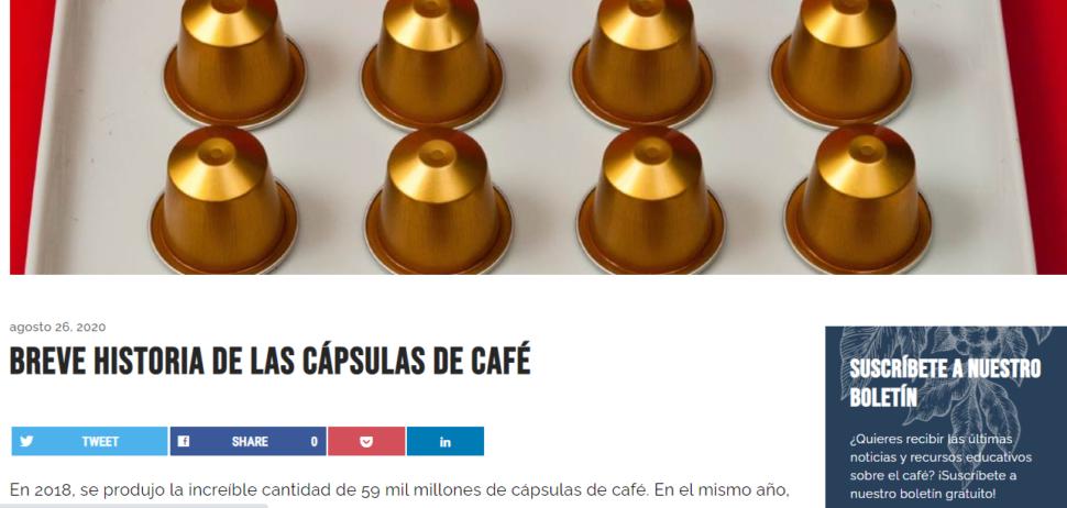 Breve historia de las cápsulas de café (https://perfectdailygrind.com/)