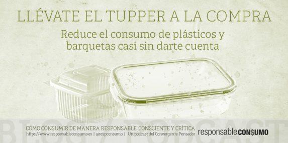 describe el contenido de la publicación que habla de como evitar generar residuos si usamos nuestros tupper a la hora de hacer la compra